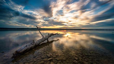 1920x1080 Lake View At Sunset 1080p Laptop Full Hd