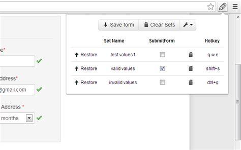 web developer form filler chrome web store
