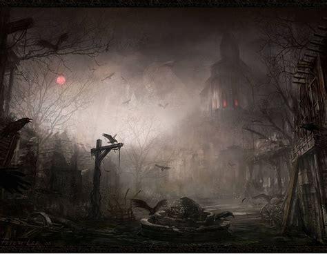Crossroads Village Halloween by New Art Funny Wallpapers Jokes Dark Fantasy Wallpapers