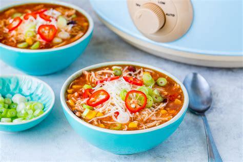 Eat Clean Crockpot Chicken Enchilada Soup Is Fast & Easy