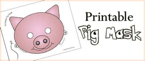printable animal masks pig mask woo jr kids activities