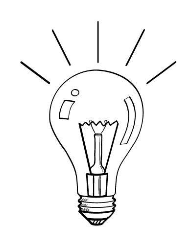 light bulb coloring page