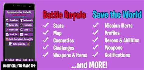 companion  fortnite stats map shop weapons apk