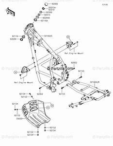 Kawasaki Motorcycle 2018 Oem Parts Diagram For Frame