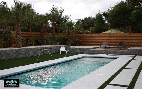 Modern Pool With Deck Jets  All Aqua Pools
