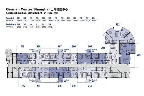 floor plans   german centre shanghai apartment