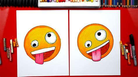 draw  crazy face emoji art  kids hub