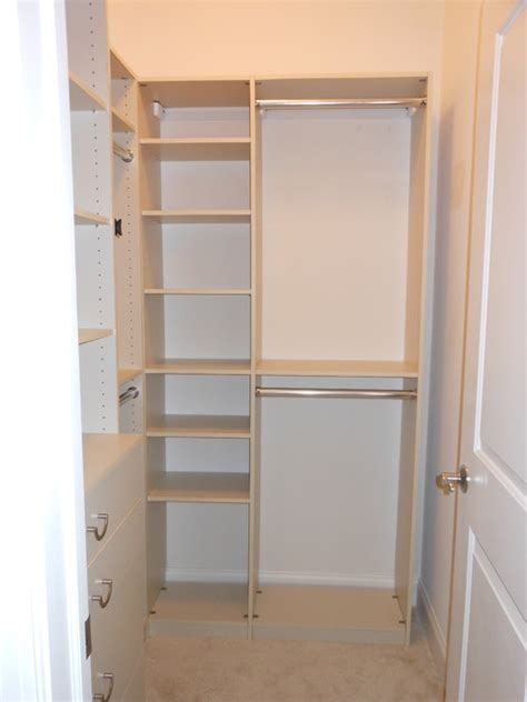 custom closets installed walk in closet contemporary