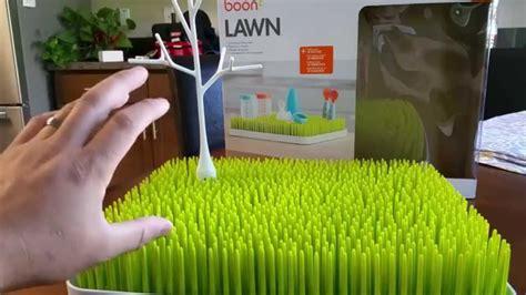 boon grass countertop drying rack boon lawn countertop drying rack unboxing