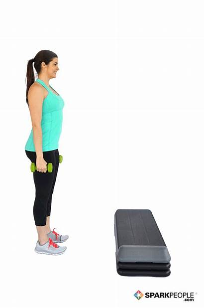 Step Lunges Exercises Exercise Dumbbell Sparkpeople Stair
