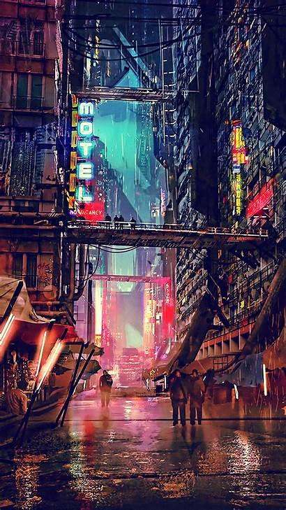 Cyberpunk 4k Wallpapers Digital Science Fiction Futuristic
