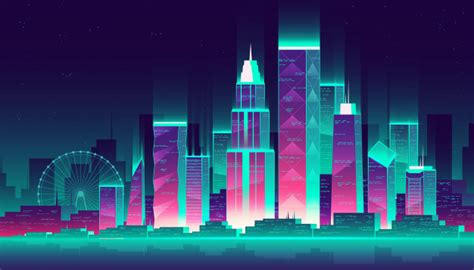 Cartoon Cityscape Wallpaper