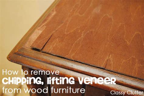 remove veneer  wood furniture  easy