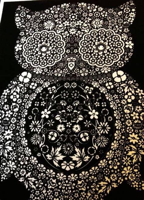 disegno da colorare  pennarelli inclusi gufo merletto