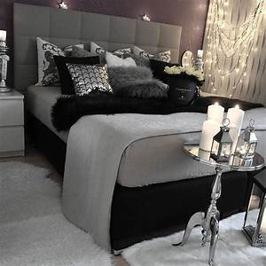 top 25 best white grey bedrooms ideas on pinterest With black white and silver bedroom ideas