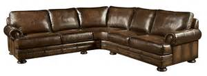 bernhardt foster 2 leather sectional weir s furniture