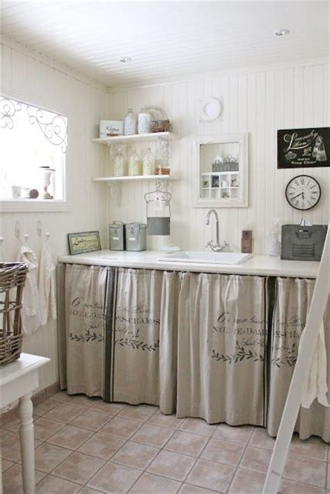Burlap Utility Sink Skirt by Best 25 Sink Skirt Ideas On Bathroom Sink