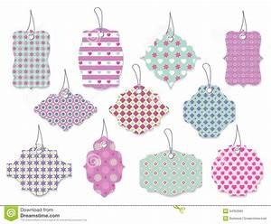 Set Of Cute Floral Tags And Labels With Hearts Stock ...