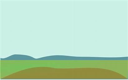 Cartoon Hills Clipart Background Landscape Clip Land