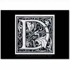 decorative letter quotdquot woodcut woodblock initial With decorative letter d