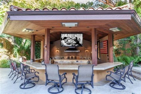 kitchen island with seating area 135 outdoor kitchen ideas and designs for 2018