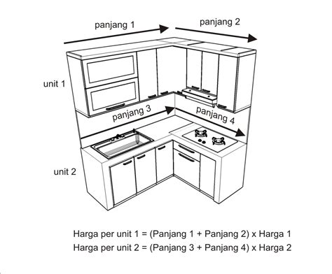 kitchen set design semarang jual cara menghitung harga kitchen set cv kembangdjati