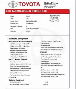 what would be the invoice price for 2017 tacoma sr5 dcsb With toyota tacoma invoice