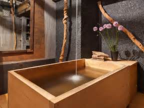 badezimmer holz bathroom with japanese wooden soaking tub
