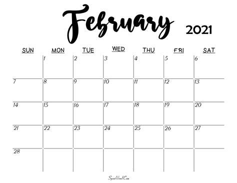 Calendar for the holy month of ramadan 1442 ah, 1429 baisakh, 2021 ad. Blank February 2021 Calendar Printable - Latest Calendar ...