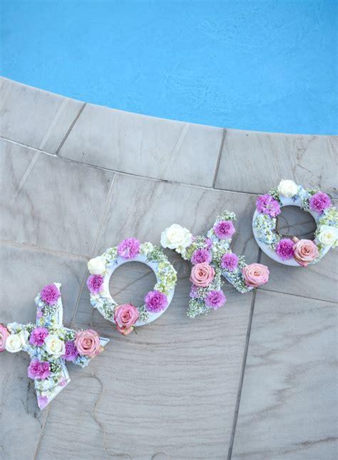 diy floating pool flower letters public lives secret