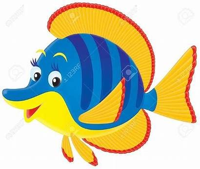 Fish Clipart Tropical Marine Clip Colorful Yellow
