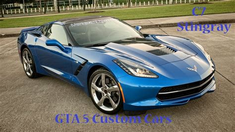 gta  custom cars  inverto coquette corvette