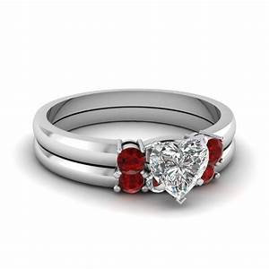 bewitched lattice set fascinating diamonds With ruby wedding ring set