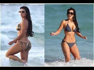 Kim Kardashian Shows Off Her Post-Baby Body - YouTube