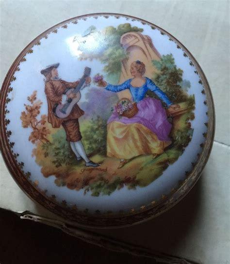 ancienne boite ronde en porcelaine de limoges fr picclick la bonbonni 233 re en porcelaine