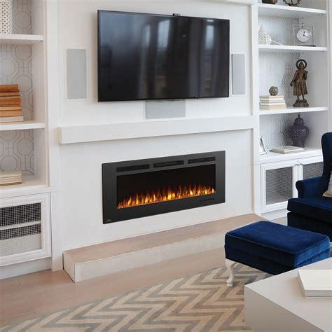 electric fireplace design phantom 50 quot nefl50fh mt wall mount electric