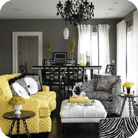 Yellow Black And Living Room Ideas by Decorating With Yellow And Gray
