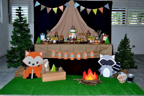 partylicious  pr woodland camping birthday