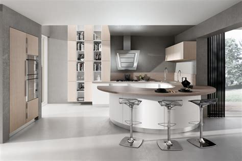 cuisines blanches design cuisine design blanche arrondie