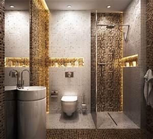 une salle de bain classique en carrelage grands carreaux With carreaux mosaique salle de bain