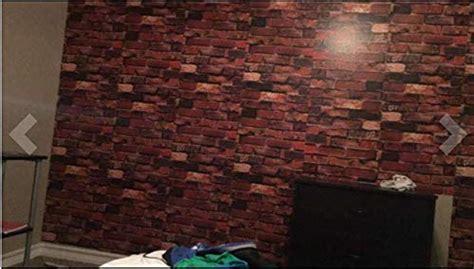 yancorp  adhesive wallpaper rust red brown brick