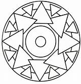 Mandala Coloring Triangle Simple Mandalas Rocks Pages Printable Sheets Easy Sheet Colouring Tracing Preschool Number Nemo Football Cartoon sketch template