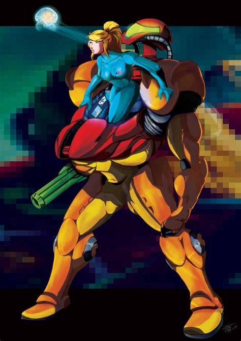 Samus Aran Metroid Fan Art Messin With Metroids By