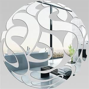Miroir Rectangulaire Pas Cher : miroir plexiglass acrylique rond design pas cher ~ Teatrodelosmanantiales.com Idées de Décoration