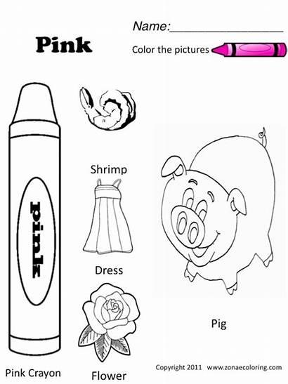 Worksheets Preschool Pink Coloring Pages Worksheet Kindergarten