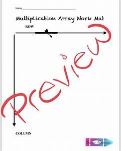 Multiplication Manipulative Work Mats  Arrays And Tape