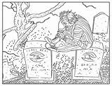 Coloring Adults Pages Adult Halloween Printable Beetlejuice sketch template