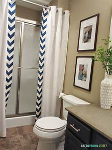 Easy No Sew Shower Curtain Tutorial Life on Virginia Street