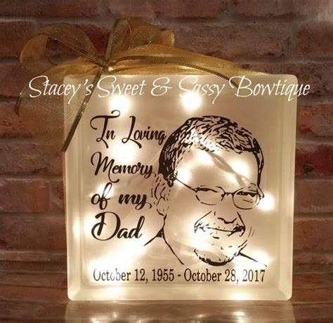custom memorial glass block  storenvy