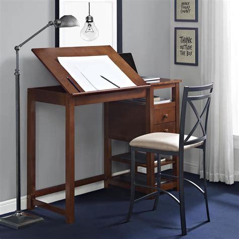 Vintage Drafting Table Adjustable Work Drawing Wood